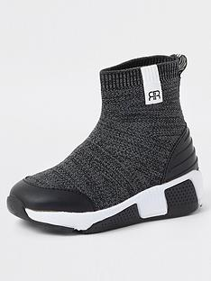 river-island-mini-boys-marl-sock-trainer--nbspgrey