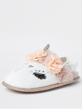river-island-mini-mini-girls-unicorn-slippers-white