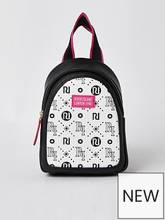 river-island-girls-ri-logo-mini-backpack-white