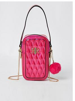 river-island-girls-quilted-patent-pom-bag-pink