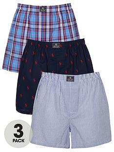 polo-ralph-lauren-3-pack-ofnbspwoven-boxer-shorts--nbspblue