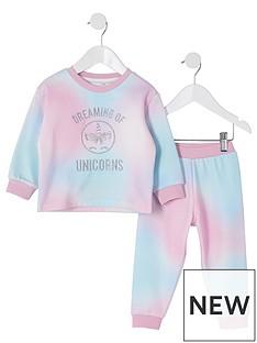 river-island-mini-mini-girls-tie-dye-lounge-set-pink