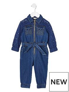 river-island-mini-mini-girls-broiderie-denim-boilersuit-blue