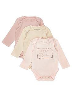 river-island-baby-girls-multipack-basic-babygrow-pink