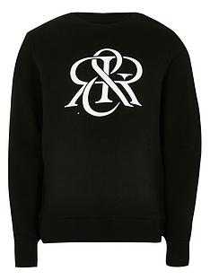 river-island-boys-rir-crew-neck-sweat--nbspblack