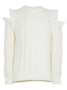 river-island-girls-knitted-cold-shoulder-jumper-cream