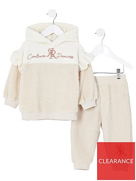 river-island-mini-nbspgirls-teddy-2-piece-tracksuit--nbspcream