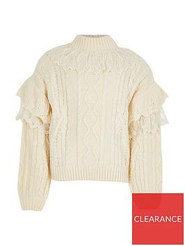 river-island-girls-lace-knitted-highneck-jumper-beige