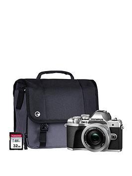 olympus-om-d-e-m10-mk-iii-camera-kit-inc-14-42-mm-f35-56-ez-pancake-lens-32gb-sd-cardnbspand-case-silver