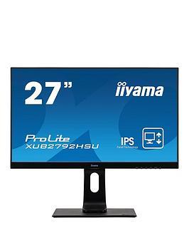 iiyama-prolite-xub2792hsu-b1-27-ips-hd-ultra-slim-bezel-black-hdmi-display-port-usb-hub-height-adjustable