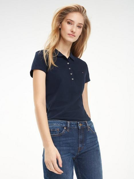 tommy-hilfiger-tommy-heritage-slim-fit-short-sleeved-polo-navy
