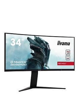iiyama-g-master-gb3466wqsu-b1-34-219-ultra-wide-va-144hz-3840x1440-1ms-hdr400-hdmi-display-port-usb-hub-height-adjustable-freesync-premium-pro-curved-1500r