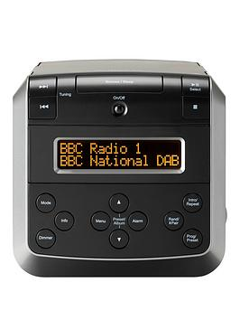 Roberts Sound48Bk Dab/Dab+/Fm Stereo Clock Radio With Cd, Bluetooth, Usb Playback/Charging
