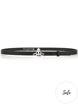 vivienne-westwood-belts-small-line-orb-buckle-belt-blacksilver