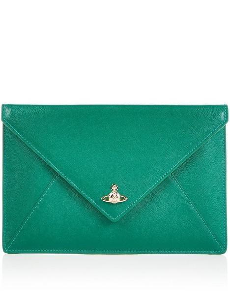 vivienne-westwood-victoria-envelope-clutch-bag-green