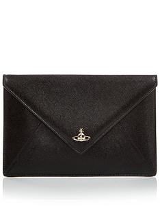 vivienne-westwood-victoria-envelope-clutch-bag-black