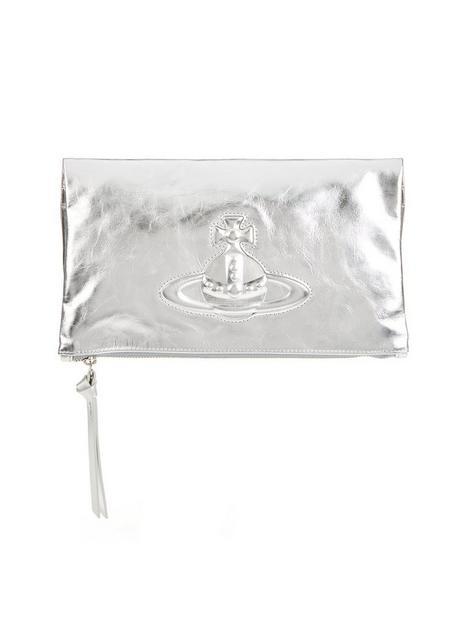 vivienne-westwood-chelsea-foldover-clutch-bag-silver