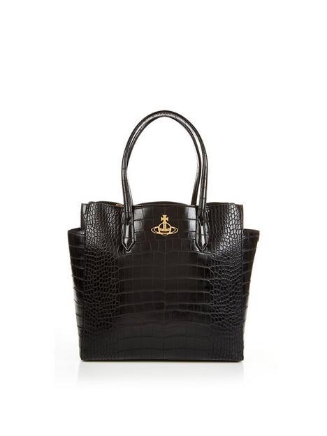 vivienne-westwood-johanna-large-shopper-bag-black