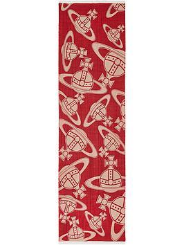 vivienne-westwood-orb-logo-scarf-red
