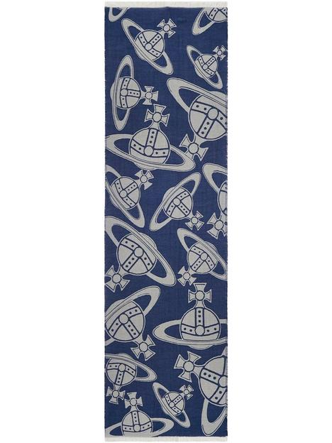 vivienne-westwood-orb-logo-scarf-navy