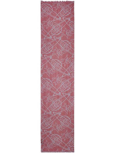 vivienne-westwood-all-over-orb-scarf-red