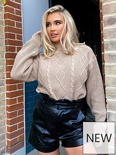 in-the-style-in-the-style-x-billie-faiersnbspdiamond-knitted-jumper-stone