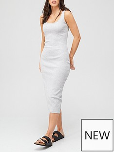 v-by-very-rib-racer-dress-grey-marl