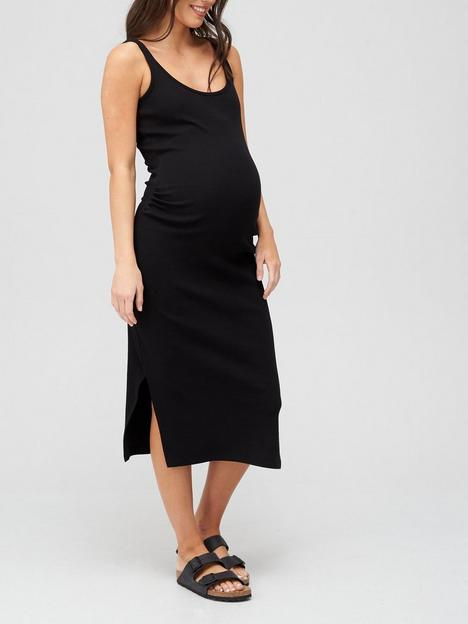 v-by-very-rib-vest-dress-maternity-black