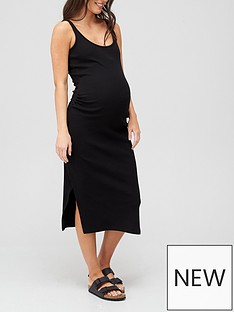 v-by-very-rib-vest-dress-maternity-black