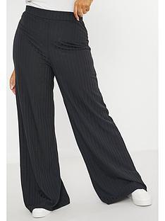 missguided-plus-missguided-plus-rib-wide-leg-trouser-black