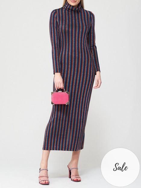 olivia-rubin-fliss-metallic-stripe-bodycon-dress-blackmultinbsp