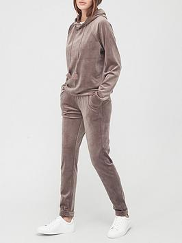 hunkemoller-velour-lounge-set-grey