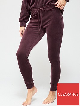 hunkemoller-velour-cuffed-leggings-wine