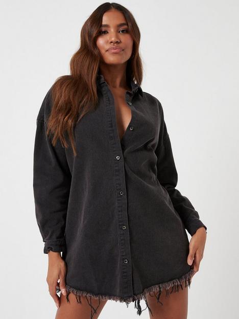 missguided-missguided-oversized-denim-shirt-dress--nbspblack