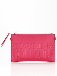 versace-jeans-couture-embossed-logo-cross-body-pouch-bag-pink