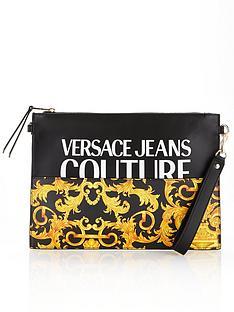 versace-jeans-couture-baroque-print-cross-body-pouch-bag-black