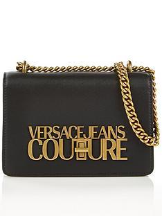versace-jeans-couture-gold-logo-shoulder-bag-black