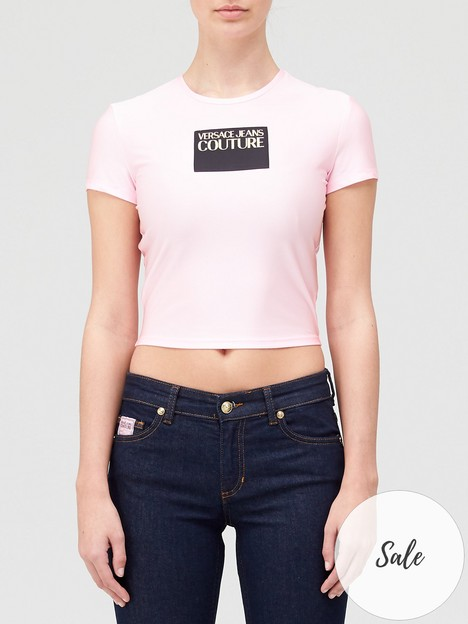 versace-jeans-couture-short-sleeve-logo-t-shirt-pink