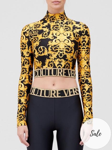 versace-jeans-couture-baroque-print-crop-top-black