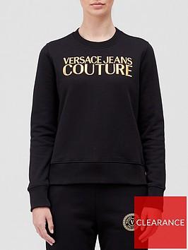 versace-jeans-couture-embroiderednbsplogo-sweatshirt-black