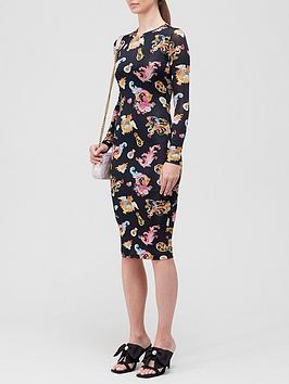 versace-jeans-couture-rococo-print-midi-dress--nbspblack