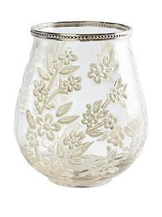 gisela-graham-clear-glass-blossom-tealight-holder