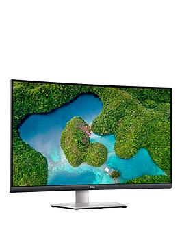 dell-s3221qs-32in-4k-uhd-curved-4ms-60hz-amd-freesync-monitor-with-built-in-speakers-silver