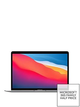 apple-macbook-air-m1-2020-13-inchnbspwith-8-core-cpu-and-7-core-gpu-256gb-storage-with-optionalnbspmicrosoft-365-family-1-yearnbsp--silver