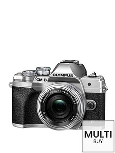 olympus-om-d-e-m10-mark-iv-mirrorless-camera-with-14-42mm-ez-pancake-lens-silver