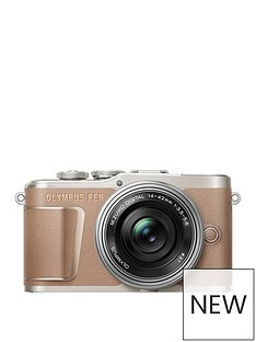 olympus-pen-e-pl10-compact-system-camera-with-14-42-ez-pancake-lens-brown