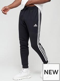 adidas-3-stripe-fleece-pants-black