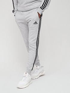 adidas-3-stripe-fleece-sweatnbsppants-medium-grey-heather
