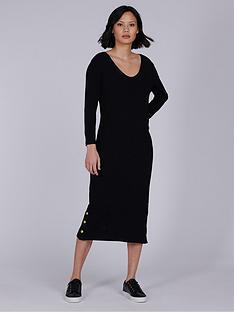 barbour-international-burnout-dress-black