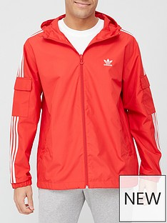 adidas-originals-3-stripes-full-zip-windbreakernbsp--red